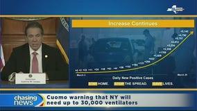 Cuomo says ventilators are in short supply
