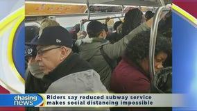 Subway service cuts prevent social distancing