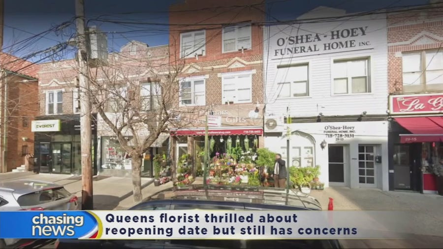 Queens florist thrilled about NYC reopening but still has concerns