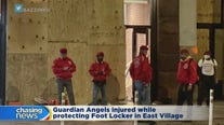 Guardian Angels lock arms to stop looters in East Village