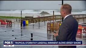 Tropical Storm Fay lashes the region