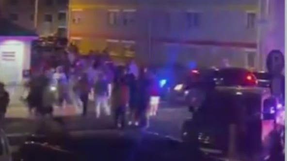 Police break up massive crowd outside former MTV Jersey Shore house