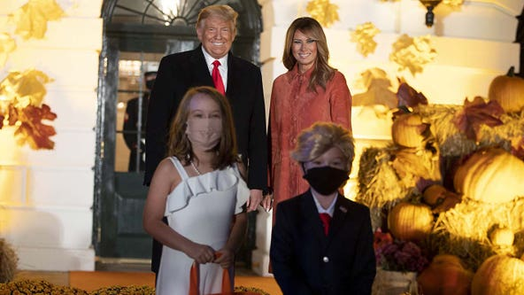 Mini President Trump, Melania costumes highlight Halloween at White House amid COVID safety tweaks
