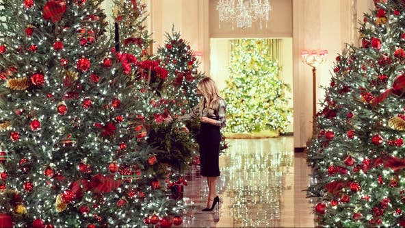 'America the Beautiful': Melania Trump showcases White House's Christmas decor