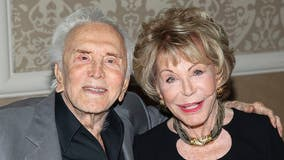 Anne Douglas, philanthropist and widow of Kirk Douglas, dies at 102