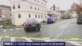 2-year-old shot in Newark