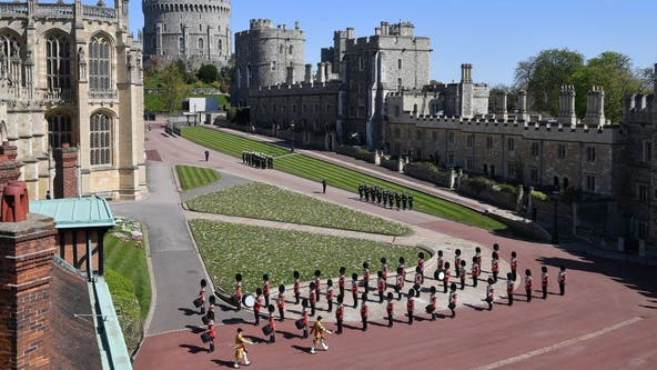 Prince Philip funeral: Hundreds of troops march to castle in ceremony for Duke of Edinburgh