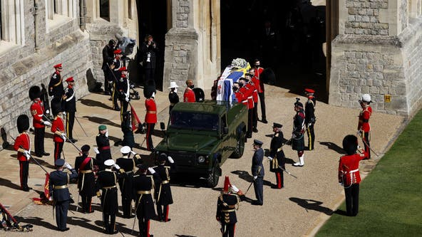 Prince Philip funeral: Coffin loaded onto custom Land Rover, designed by Duke of Edinburgh himself