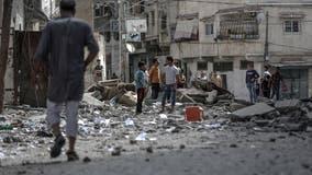 Israeli airstrikes hit Gaza militant tunnels as truce efforts remain elusive