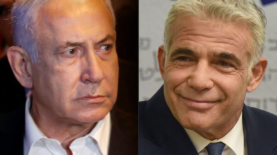 COMBO-ISRAEL-PALESTINIANS-CONFLICT-POLITICS-LAPID