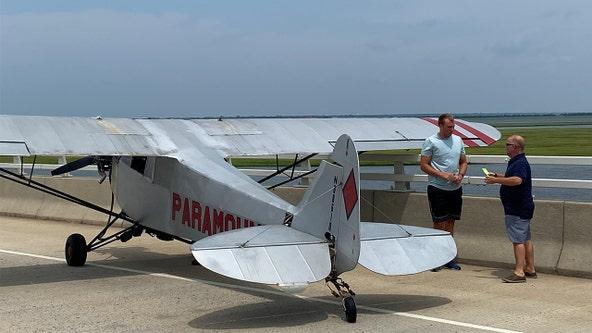 Teenage banner plane pilot makes safe emergency landing on bridge in Ocean City, New Jersey
