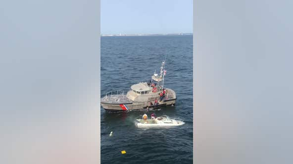 Three rescued from sinking boat off New Jersey coast