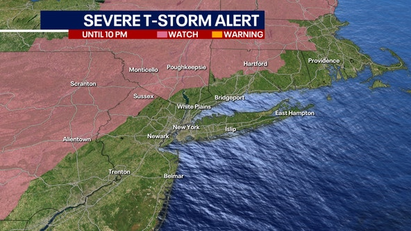 Damaging storms, tornadoes possible from New York City area storms
