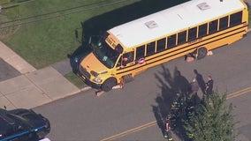 School bus strikes utility pole, fire hydrant in NJ