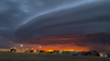 'Stunning mothership' cloud formation looming over city captured on video