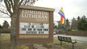 LGBT pride flag stolen from Edmonds church, again