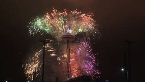 WATCH: Full New Year's fireworks show at the Space Needle
