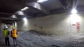 Crews begin filling Seattle's Battery Street tunnel