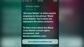 Users who say 'All Lives Matter' to Apple's Siri are given information about Black Lives Matter