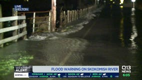 Flood warnings persist near the Skokomish River