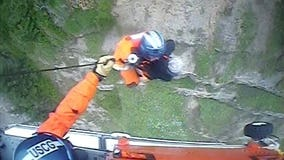 Coast Guard rescue mother, son after fall from Oregon cliff