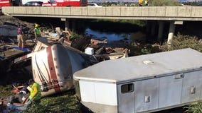 A family tragedy on I-90: Woman, child killed, six injured as motorhome crashes near Ellensburg