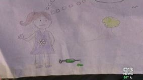 A young Bothell girl's artwork warns of the dangers of dirty needles in parks