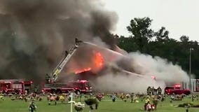 Memphis funeral home goes up in flames one hour before scheduled service