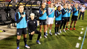 Seattle Reign's Rapinoe kneels during anthem again, before U.S. match vs. Thailand