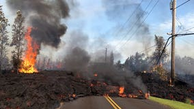 Lava flow destroys at least 35 homes on the Big Island of Hawaii