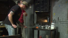 Military members use the art of glass blowing as a form of therapy