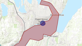 Naval Base Kitsap spills 80,000 gallons of sewage into Puget Sound; 'no contact' advisory issued