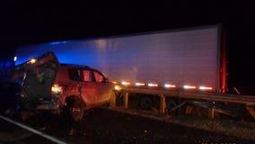 8 vehicle crash shuts down westbound I-90 near Cle Elum; only 1 minor injury