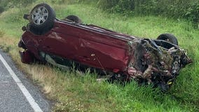 2 teens killed, 2 hurt in overnight rollover crash, Puyallup police say