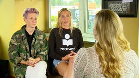 Megan Rapinoe and Allie Long talk World Cup victory, fight for equality in women's soccer