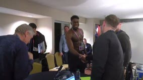 Rookie cries tears of joy weeks after shirtless meeting with Coach Pete Carroll