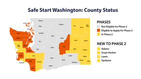 Four more Washington counties approved for Phase 2 reopening