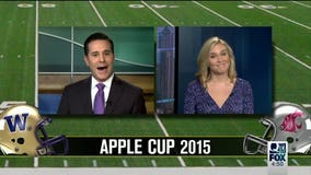 News anchor, sports reporter place 'old school' bet on Apple Cup (VIDEO)