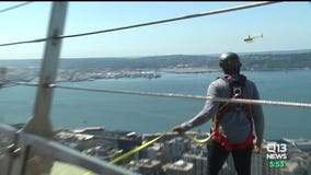 Out & About: KJ Wright and Kevin Pierre-Louis conquer the Space Needle