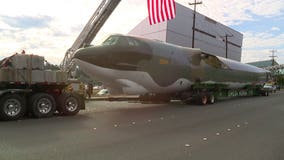 Restored B-52 lands at its new home to pay tribute to Vietnam vets