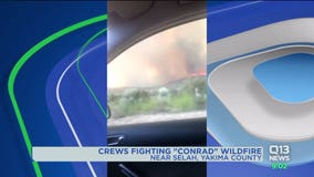 5,300-acre brush fire threatens homes in Yakima Valley