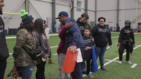 Russell Wilson supports and inspires local kids to achieve their dreams