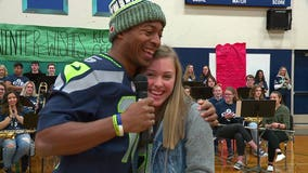 Tyler Lockett delivers Seahawks surprise to deserving Pierce County 14-year-old and we take you along for the magic