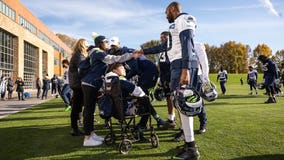 Seahawks inspire two local high school students battling serious medical conditions