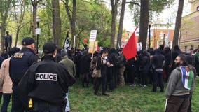 Portland police make more than 24 arrests as May Day march turns ugly
