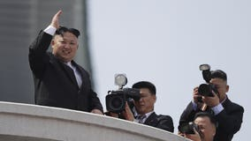 North Korea holds military parade on eve of Olympics in South