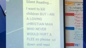 Teacher who wrote 'I want to kill children' on projector has resigned
