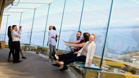 'Float' over Seattle! Space Needle unveils new glass benches