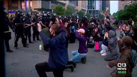 Peaceful protests in Seattle as widespread looting happens in Bellevue, Tukwila, Renton
