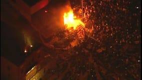 George Floyd protesters set Minneapolis police station on fire